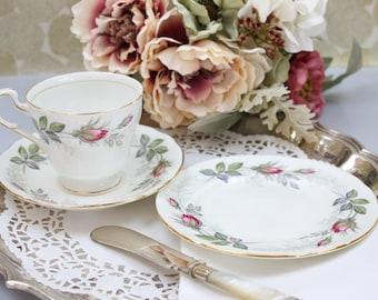 3-Piece Paragon Tea Set Trio, Vintage Tea Cup, Saucer, Plate Set, Fine Bone China, Made in England, c1950s, Vintage Tea Party