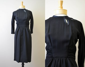 1950s Patullo-Jo Copeland Black Dress