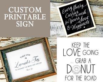 Favor Sign - Custom Design - Printable file included