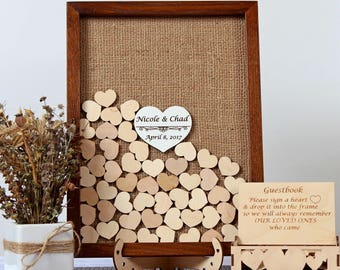 Wedding Guest Book Alternative Rustic wedding decor Wedding guestbook Rustic Guest book wedding Drop box guest book Rustic wedding guestbook
