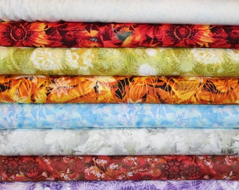Judy Niemeyer Wildflowers Half Yard Fabric Bundle - Timeless Treasures