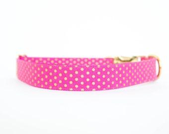 Pink and Gold Polka Dot Collar