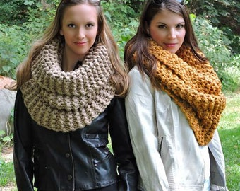 Knitting Pattern THE STRASBURG SCARF Chunky Knit Cowl Pattern Huge Snood Knit Scarf Pattern Infinity Scarf Pattern Bulky Cowl Pattern