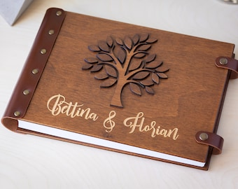 Wedding Guest Book, Guest Book, Family Tree, Guestbook, Wood Guest Book, Wedding Album, Guest Book Ideas, Photo Guest Book, Wedding Gift