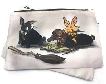 Harey Potter pouch - Wizard Bunny Rabbit parody cute pencil case zipper bag