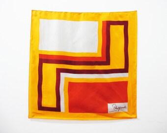 SALE - 1960s Schiaparelli Silk Geometric Large Scarf