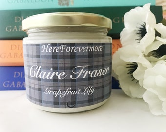 Claire Fraser Outlander Soy Candle // Grapefruit Lily // Modern Literature Collection
