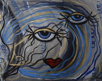 Blue Eyes in the dark