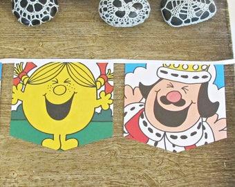 Little Miss Sunshine Bunting - Mr Men Little Miss - Party Nursery Decoration