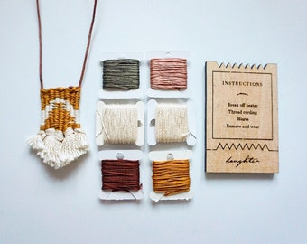DIY Woven Necklace Kit Beginner Weaving