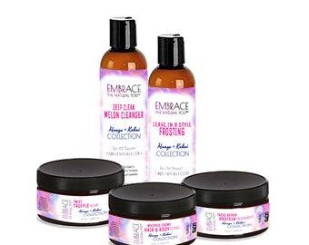Mango + Kukui Collection - Regimen for Natural Hair, Kinks, Coils, Spirals, Curls, + Waves!