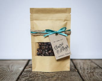 Personalised Coffee Wedding Favour Pouch