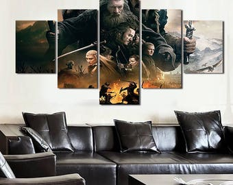 5 Panels The Hobbit Canvas Art Multi Grouped Art Work