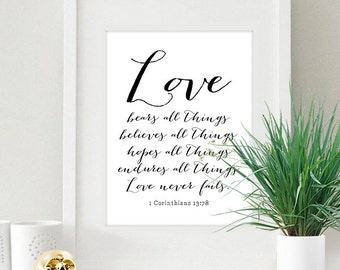 Deep Love Quote 8x10 inch Poster Print - P1198