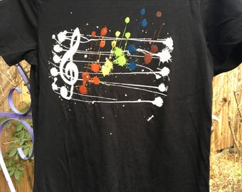 Women's Wearable Printed T. Rainbow Rhythm