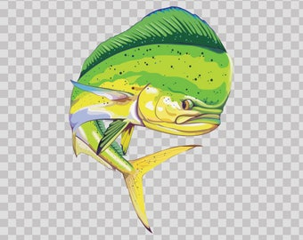 Decal Stickers Dorado Dolphin Power Fishing Fisherman fish boat 05955