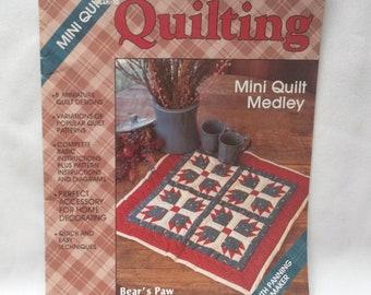 Quilting Instruction Booklet Vintage Plaid Enterprises Mini Quilts, Quilt Dsigns