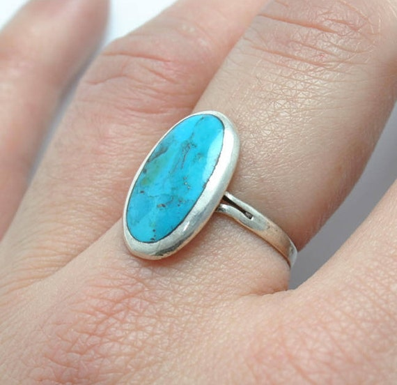 Native american turquosie oval ring silver, native american jewelry, oval vintage ring, oval rings, vintage rings, turquoise rings