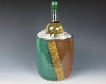 ceramic utensil holder,utinsel holder,handmade,wine chiller,utensil crock,pottery,wine cooler,utensil organizer,countertop wine chiller