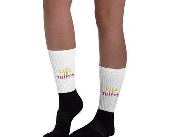 LIFE IS TRIPPY tm Socks
