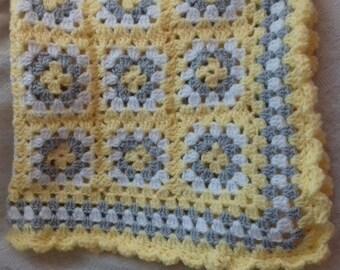 Crochet baby blanket, new baby gift, baby shower gift, pram blanket, made to order.
