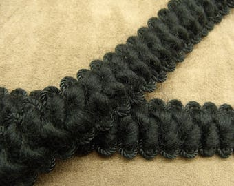 FANCY wool Ribbon - 3 cm - black
