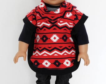 18 Inch Boy Doll Clothes Handmade Poncho fits AG Boy Doll