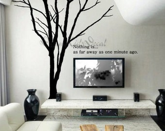 Wall Decal Wall Sticker tree decal Vinyl decal- Giant Winter Tree-wall art-DK030
