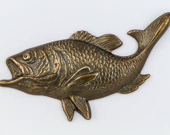 46mm Antique Brass Trout #CHB162