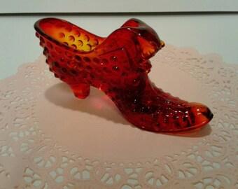 Fenton Glass Ruby Slipper