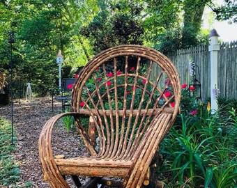 Fan Back Handmade Willow Chair