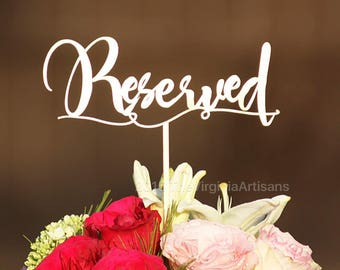 Set of 8 - Reserved Signs - Reserved Table Signs - Reserved Signs - Reserved Wedding Signs - Reception Reserved Signs - Reserved Sign - Gard