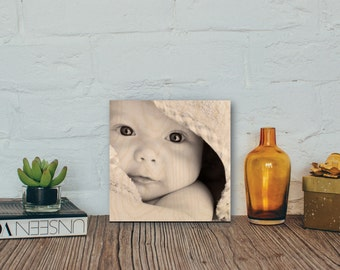 Print your Photo on Wood - Perfect for Holiday or Wedding Gift, Mother's Day or Father's Day Gift, Home Decor or Office Decor