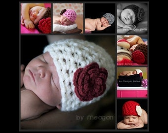 CROCHET PATTERN - Simplicity Beanie - Preemie to 3 Months - Fast and Easy  - Great Beginner Pattern - PDF 112 - Sell what you Make