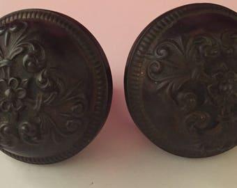 Antique bronze door knob set