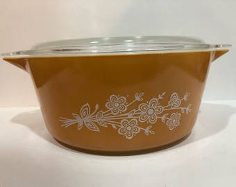 Butterfly Gold Vintage Pyrex 475