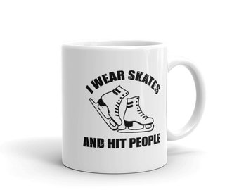 I Wear Skates & Hit People Roller Derby Clothes Funny Shirt