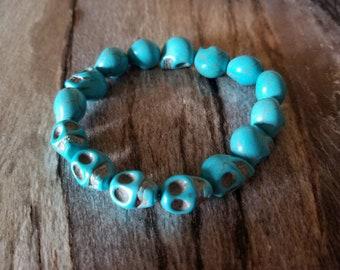 Turquoise Color Skull Bracelet