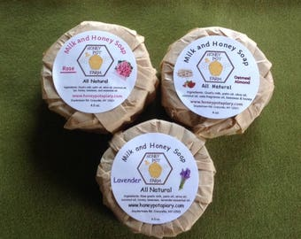 All natural goat's milk and honey soap