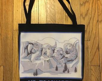 Mt. Beakmore reusable tote bag- featuring original artwork