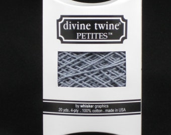 NEW- Divine Twine Petites-(20 yards)-SOLID GRAY