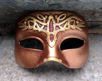 Tribal celtic crow latex eye mask for LARP, costume, cosplay