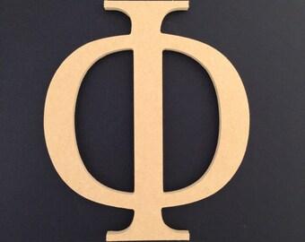 "3 12"" Unpainted Wooden Greek Letters, 11.00 ea. FREE SHIPPING Xi, Phi, Gamma, Theta, Rho  12GK50X3   136"
