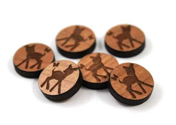 Laser Cut Supplies-8 Pieces.Fawn & Butterfly Charms-Acrylic and Wood Laser Cut-Jewellery Supplies-Little Laser Lab Wood and Acrylic Products