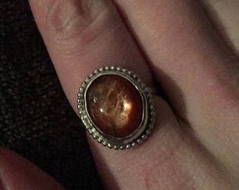 Sterling Silver Sunstone ring