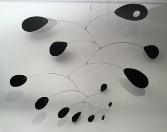 "Modern XL Mobile Lustron II 63""w x 48""h Home Decor for High Ceiling Calder Inspired Art"