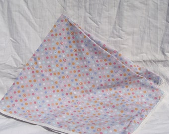 Cotton Receiving Blanket Pastel Polka Dots