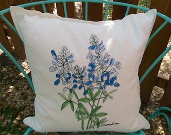 Bluebonnet Pillow cover only