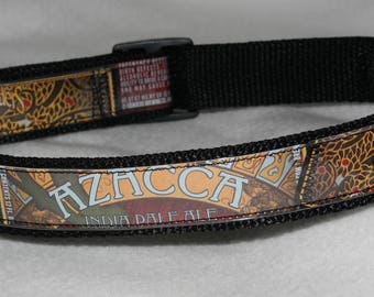 Adjustable Dog Collar from Recycled Founders Azacca IPA Beer Labels