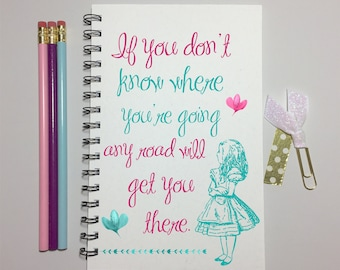 Alice in Wonderland, Journal, Bullet Journal, Alice in Wonderland Quote, Notebook, Alice in Wonderland Journal, Spiral, Gift